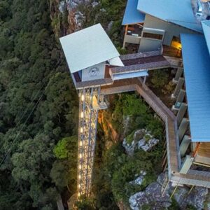 Viewing lift going down the face of the Gorge - Things to do in Nelspruit - Shandon Lodge