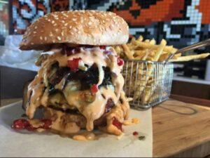 A massive burger from Rocamamas - Restaurants in Nelspruit - Shandon Lodge