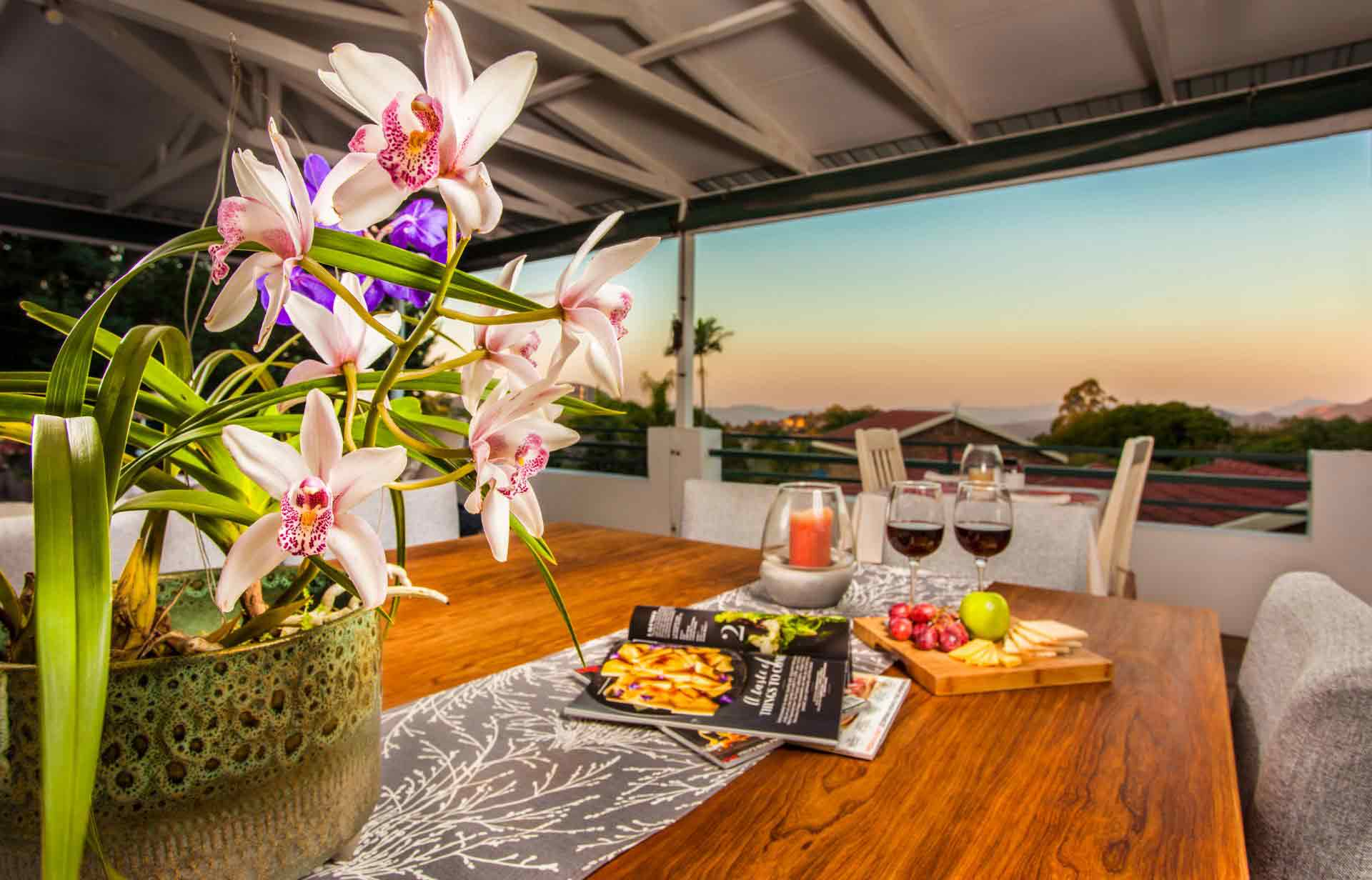 A flower with a stunning view of Nelspruit in the background - Guest Houses Nelspruit - Shandon Lodge