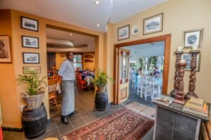 The entrance to Sophies Bistro - Restaurants in Nelspruit - Shandon Lodge