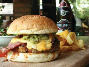 Delicious burger and Beer at The Jock Pub and Grill - Restaurants in Nelspruit - Shandon Lodge